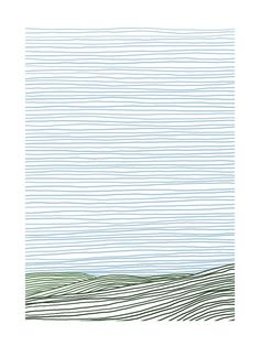 Stripe Landscape: Green Hills by Jorey Hurley for Minted