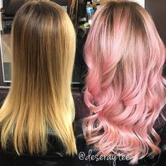 Ombres, Blondes And Balayage Dusty Rose Hair, Rose Pink Hair, Pink Ombre Hair, Pastel Pink Hair, Peach Hair, Hair Color Pink, Hair Color And Cut, Cabelo Rose Gold, Pixie