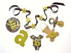camouflage baby shower ideas | Camo baby shower decorations It's a boy banner by ParkersPrints on ...