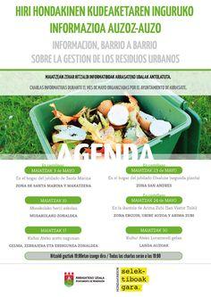 Hondakinen kudeaketa egokiarentzat egindako kartela / Cartel realizado para la buena gestión de la residuos