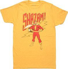 DC+Comics+Retro+Shirt Products : Shazam Standing Retro T-Shirt