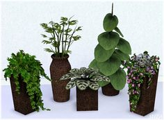 Deco 21 plants with new meshes by Suza