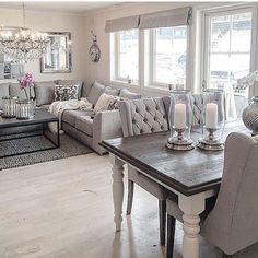 Likes 77 Kommentare Interieur Tipps und Inspiration (Saloni Shah) in Farmhouse Dining Room inspiration interieur Kommentare Likes Saloni Shah Tipps und Living Dining Room, Modern Dining Room, Apartment Decor, Living Room Inspiration, Home, Interior Design Living Room, Living Room Dining Room Combo, Dining Room Combo, Dinning Room Decor