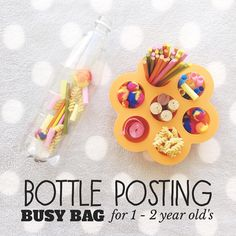 Bottle Posting Busy Bag for 1 - 2 year olds 🙌🏽 Super easy Busy Bag for 1 - 2 year olds! Keeping little tots busy & engaged is difficult at…