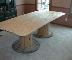 This table was assembled in 10 minutes. The rest of the time was spent cutting the plywood and rounding the corners.