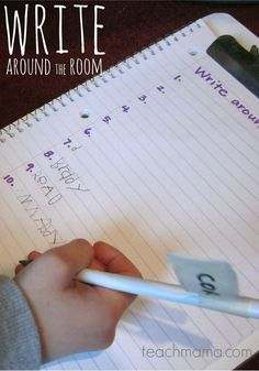 Write Around the Room is just that –giving kiddos the task of writing the words that they see in any room. This is a great activity to help kids with writing without the pressure of a workpaper. #teachmama #writing #writingidea #writingactivity #writinggame #educationalactivity #kidsactivities #learningactivities