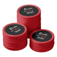 Bride Tribe Red Heart Arrow Red Set Of Poker Chips - red gifts color style cyo diy personalize unique