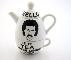 Hello Lionel Richie Ritchie  Is it Tea Teapot Tea For One. $38.00, via Etsy.