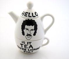 Hello Lionel Richie Ritchie  Is it Tea Teapot Tea For One. $38.00, via Etsy.