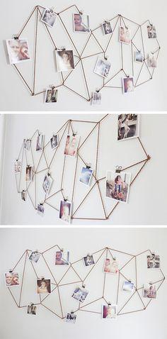 Idé til vægdekoration med billeder