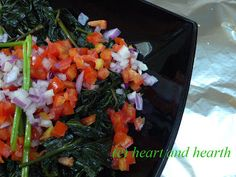 Heart and Hearth's Sweet Potato Greens (Camote Tops) Salad (The Philippines)