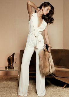 Classic white jumpsuit
