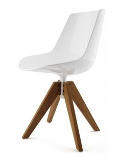 Chaise Mdf Italia Flow chair - 5 razze regolabile con ruote design Jean Marie Massaud