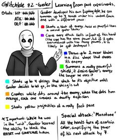 Gaster stats ~ Glitchtale