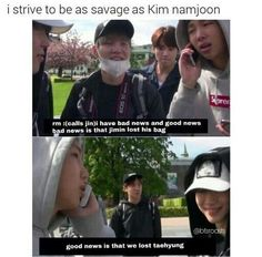 Namjoon!!!!! That is not good news!!! Poor Taehyung....