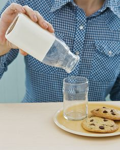 Gotta Save a milk container for this one...Stir 1 packet of powdered gelatin into 2 tablespoons of water, and let stand for 5 minutes. Warm 2 cups of milk in the microwave. Stir the gelatin mixture into the milk. Transfer to a glass pitcher or bottle, and refrigerate until set, about 2 hours.