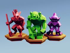 Low Poly Fantasy Tabletop - Horde Base Units by Davision3d - Thingiverse
