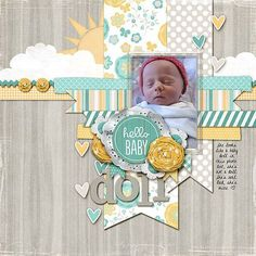 papercraft scrapbook layout Baby Doll - Two Peas in a Bucket Bridal Shower Scrapbook, Baby Girl Scrapbook, Baby Scrapbook Pages, Kids Scrapbook, Scrapbook Sketches, Scrapbook Page Layouts, Photo Layouts, Cuadros Diy, Paper Bag Scrapbook