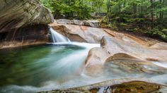 1.Franconia Notch State Park, Lincoln waterfalls ofNH