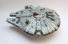 GolPlaysWithLego stuns even the most stubborn of Alderaanian princesses with his incredible Millennium Falcon. Star Wars Boba Fett, Star Wars Clone Wars, Lego Star Wars, Star Trek, Lego Moc, Lego Lego, Millennium Falcon, Lego Spaceship, Lego Pictures