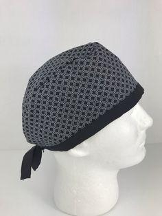 Black Patterns Skull Cap – Oksana's Creations Surgical Caps, Scrub Hats, Drip Dry, Black Pattern, Classic Style, Crochet Hats, Skull, Patterns, Medium