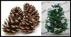 Pine Cone Christmas Ornament Pine Cones, Personalized Gifts, Stuffed Mushrooms, Candy, Holidays, Chocolate, Christmas Ornaments, Vegetables, How To Make