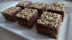 Mozartove kocky (fotorecept) - recept | Varecha.sk Banana Bread, Cheesecake, Deserts, Treats, Cakes, Cooking, Sweet, Basket, Sweet Like Candy