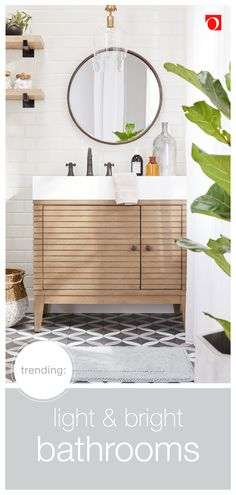 Find all the essentials you need to give your bathroom a refresh at Overstock. We have thousands of products and beautiful new furniture at the lowest prices. From bathroom storage to high-quality…More Upstairs Bathrooms, Small Bathrooms, Master Bathroom, Neutral Bathroom, Gold Bathroom, Bright Bathrooms, Master Master, Relaxing Bathroom, Country Bathrooms