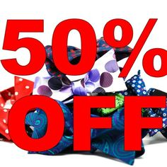 50% OFF Bow ties. No Coupon Code Required.  WWW.KINGKRAVATE.COM