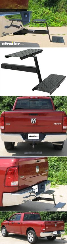 Get a step up into your truck bed or truck bed camper. This step installs right into your hitch.