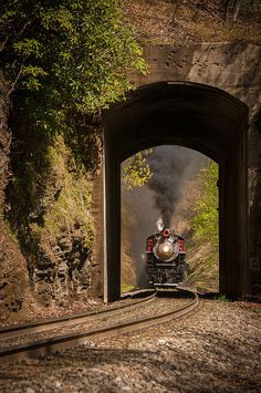 Beautiful photography and train image captured with great depth of field.