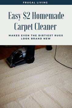How to make a natural carpet cleaning solution pinterest carpet easy 2 homemade carpet cleaner makes even the dirtiest rugs look brand new if your solutioingenieria Images