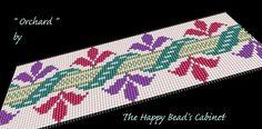 "Bead loom bracelet pattern , cuff jewelry design ,""Orchard"" - INSTANT DOWNLOAD PDF , bracelet, cuff, jewelry,handbag"