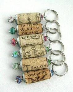 Diy Discover Wine Cork Keychain Beaded Cork von lizkingdesigns on Etsy - Schmuck Selber Machen Wine Craft Wine Cork Crafts Wine Bottle Crafts Crafts With Corks Wine Bottle Corks Bead Crafts Wine Cork Art Wine Cork Projects Craft Projects Wine Craft, Wine Cork Crafts, Wine Bottle Crafts, Bead Crafts, Crafts With Corks, Wooden Crafts, Bottle Art, Wine Cork Art, Wine Cork Jewelry