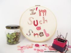 Embroidery hoop wall art I'm such a snob by ThimbleHoop on Etsy