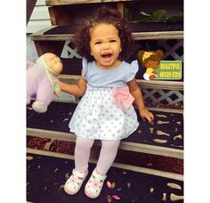Kinsley - 1 Year • Caucasian & African American ❤ FOLLOW @BEAUTIFULMIXEDKIDS http://instagram.com/beautifulmixedkids