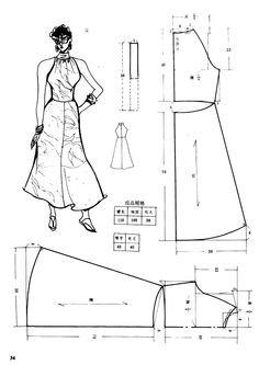 Vintage dress, patterns instructions