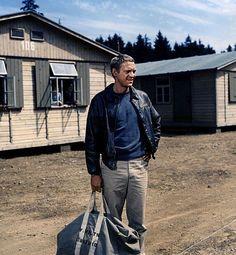 """Steve McQueen en """"La gran evasión"""", 1963"""