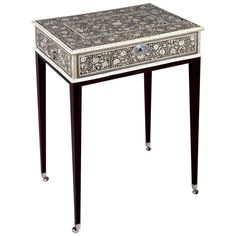 Anglo-Indian Ebony and Ivory Collector's Box | From a unique collection of antique and modern side tables at https://www.1stdibs.com/furniture/tables/side-tables/
