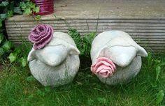 Crocheted roses.