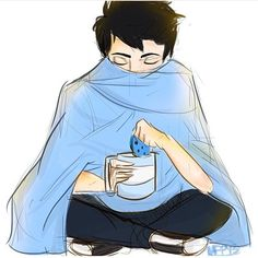 Percy Jackson in pjs