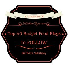 The 40 Budget Food Blogs You Absolutely Need To Know AboutFood is my passion, my driving force, more than just a hobby.Food is the way of life.It brings us together, makes us happy, and enables us to have an excuse to spend more time enjoying.We foodies should stick together, and help each other out.And the …