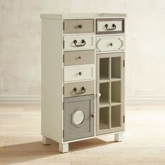 Who needs matchy-matchy when endearingly unique is more your style? With its kinda crazy mix of drawer fronts, handles and finishes, our Sharelle Cabinet can be deceiving—it's more than capable of storing all sorts of things to make your life easier (and a lot more fun!) in most any room of your choosing.