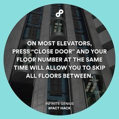 It works on most of the old elevators.  #8fact #8facthack #lifehack by 8facthack
