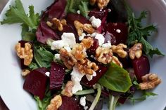 Roasted Beet Salad with Orange Balsamic Vinaigrette | Healthy, Hungry, and Happy