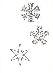 Cómo hacer adornos de copos de nieve