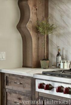 Veranda Estate Homes // Hillhurst {16th} custom corbels in kitchen