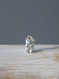 Fine silver Gummy bear charm by ALMrozarka on Etsy