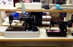 Vintage Singer 201 and 99K portable sewing machines for sale