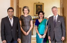 King Philippe and Queen Mathilde meet Indian hostess Nidhi Chaphekar who survived the 22nd March 2016 terrorist attack. A picture of Nidhi Chaphekar made world wide newspapers front page covers. 20-03-2017